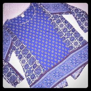 """""""Lucky Brand"""" Live in Love 3/4 sleeve Blouse"""